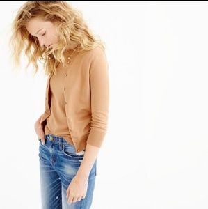 J. Crew•The Clare Cardigan• Small•Camel